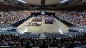 Photo of a local high school graduation.