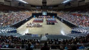 Photo of a local high school graduation.